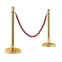 OneConcept Golden Gate, zlatá/červená, vodicí systém osob, 2 oddělovací sloupky a lano