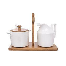 Orion Sada mlékovky a cukřenky se stojanem Bambu