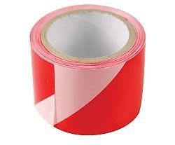 Páska výstražná červenobílá - 250m