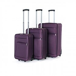 Pretty UP Sada cestovních textilních kufrů TEX01 3 ks, fialová