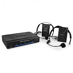 QTX Sada VHF bezdrátových mikrofonů, 2 kanály, 2x headset