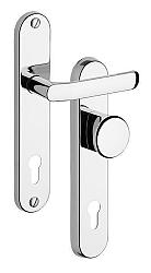 Rostex 802/O Baryt bezpečnostní kování -klika-knoflík 90 Nerez Mat Ti