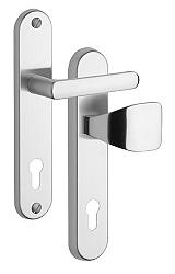 Rostex 802/O Exclusive bezpečnostní kování - klika-knoflík 90 Nerez Mat