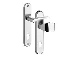 Rostex 802/O Ideal bezpečnostní kování - klika-madlo 90 Nerez Mat