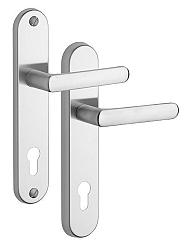 Rostex 807/O Exclusive bezpečnostní kování - klika-klika 90 Nerez Mat