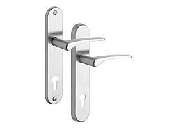 Rostex 807/O Ideal bezpečnostní kování - klika-klika 72 Nerez Mat