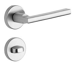 Rostex Brit/SNH rozetové dveřní kování - WC Nerez mat