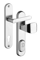 Rostex R1/O Exclusive bezpečnostní kování - klika-knoflík 72 Nerez Mat