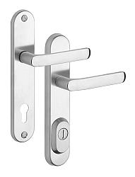 Rostex R4/O Baryt bezpečnostní kování - klika-klika 72 Nerez Mat