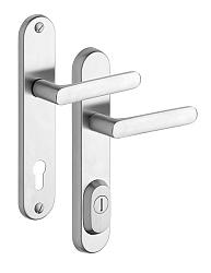 Rostex R4/O Exclusive bezpečnostní kování - klika-klika 72 Nerez Mat