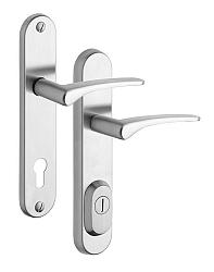 Rostex R4/O Ideal bezpečnostní kování - klika-klika 72 Nerez Mat