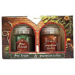 Sada 2ks vonných svíček Pine Forest + Perníčky, 2x 85 g