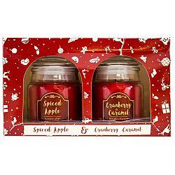 Sada 2ks vonných svíček Spiced Apple + Cranberry & Caramel, 2x 85 g