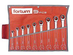 Sada ráčnových očkoplochých klíčů 9ks 8-19 Fortum 4720104