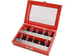 Sada tvarových fréz 6mm SK plátky 10ks + kufr Extol Premium 44041