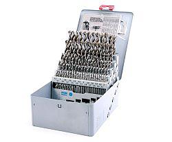 Sada vrtáků do kovu CZ002 91 ks 1-10/0,1mm kovová kazeta