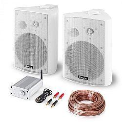 Skytec Bluetooth Play WH, PA HiFi set, dva reproduktory, mini zesilovač s bluetooth, kabel