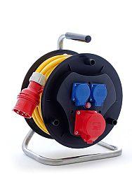 Šňůra prodlužovací 400V mrazuvzdorná na bubnu, 3 zásuvky 25m