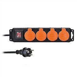Solight PP332 Venkovní prodlužovací přívod 4 zásuvky černá, 5 m