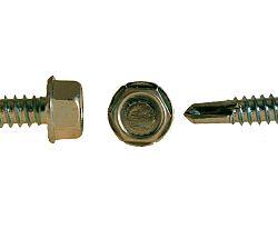 Šroub do plechu ZnB TEX, 6hr hlava s límcem, DIN 7504K -  4.8x22