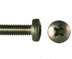 Šroub půlk. hl. kříž nerez A2, DIN 7985 - M5x70