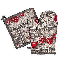 Trade Concept Vánoční sada chňapka a podložka Christmas Heart