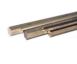 Tyč šestihranná  mosaz - 10mm