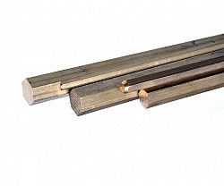 Tyč šestihranná  mosaz - 12mm