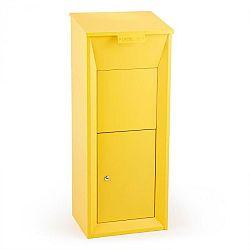 Waldbeck Postbutler Paketbox poštovní schránka na balíky stojící poštovní schránka žlutá