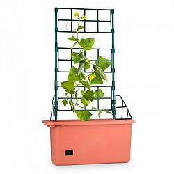 Waldbeck Power Planter, květináč, 75 x 130 x 35 cm, mřížka na popínavé rostliny, 3 patra, PP