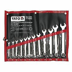 Yato YT-0062 Sada klíčů očkoplochých 12 ks, 8 - 24 mm