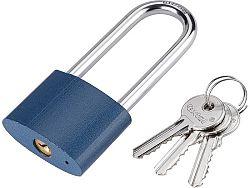 Zámek visací prodloužený 3 klíče Extol Craft - 45mm