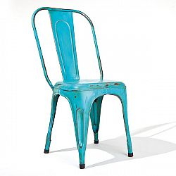 Židle AIX retro tyrkysová